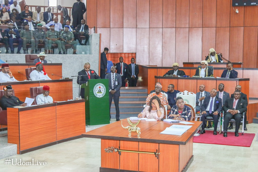 Speech by Governor Udom Emmanuel on the Presentation of the 2020 Budget Proposals to Akwa Ibom State House of Assembly