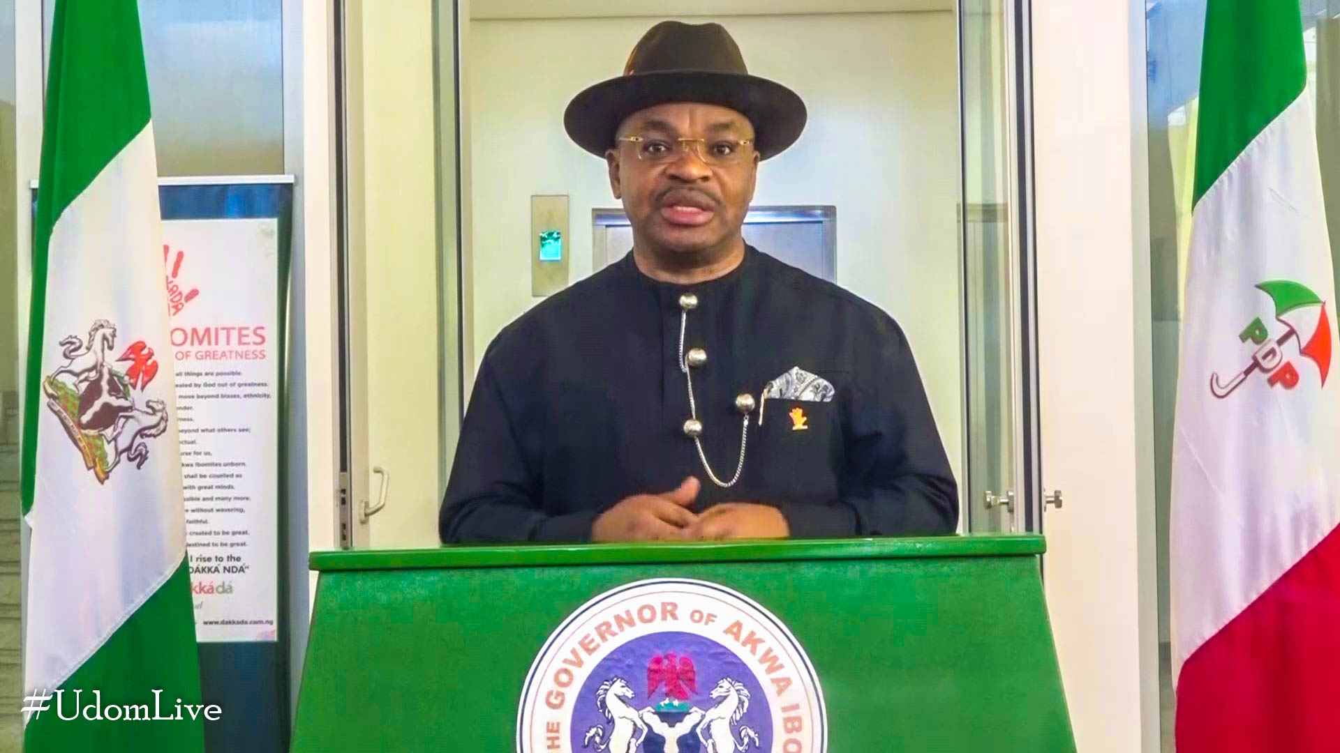 Broadcast by His Excellency, Mr. Udom Emmanuel, Governor, Akwa Ibom State on the Occasion Of The Fifth Anniversary of His Inauguration.