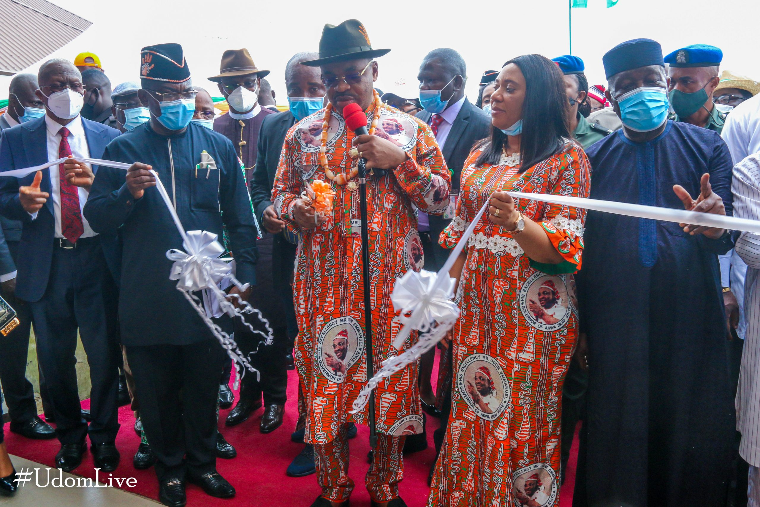 Governor Emmanuel Commissions New Eket Roads, Hospital...Assures on Completion of Urban Renewal, Other Projects