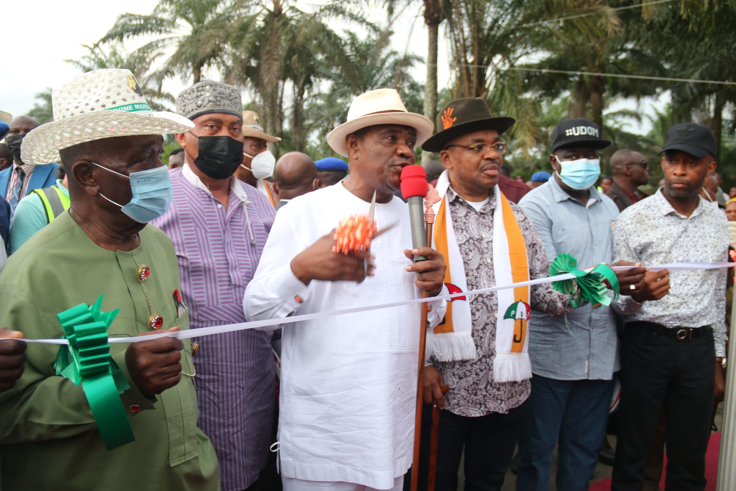 Gov Wike Commissions new roads, flag - off New Petro-Chemicals Factory, Hospital in Akwa Ibom