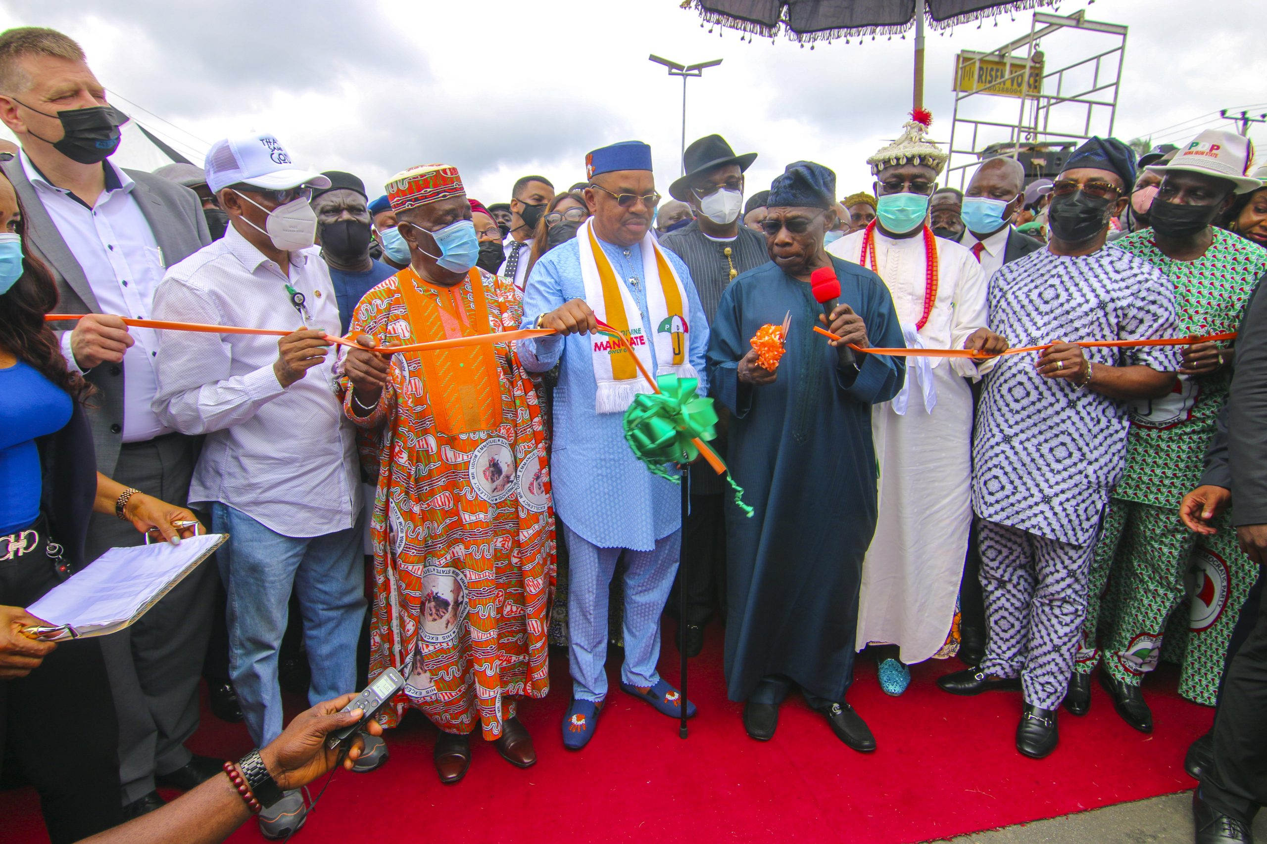 You have not disappointed me and your people - Obasanjo to Udom at Flyover Inauguration